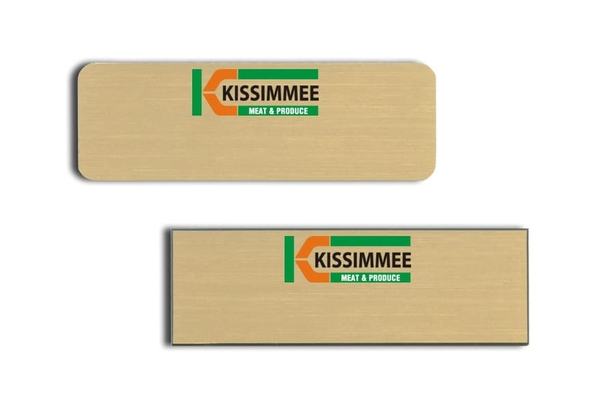Kissimmee Meat & Produce Name Tags Badges