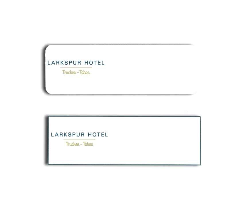 Larkspur Hotel Name Tags Badges