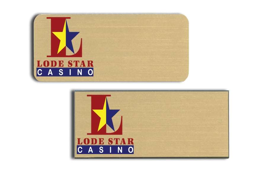 Lode Star Casino Name Tags Badges