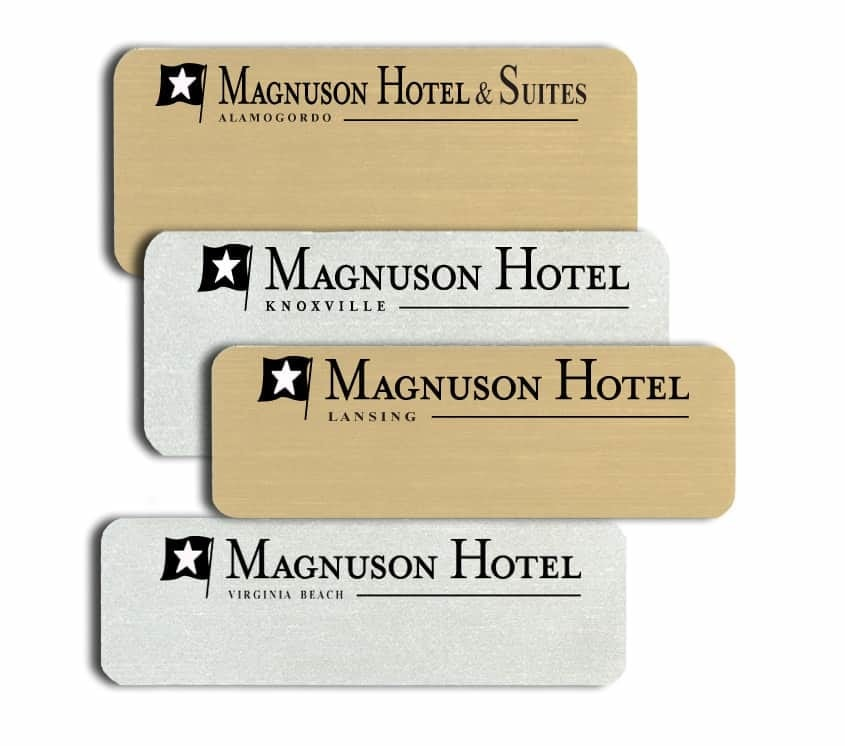 Magnuson Hotel & Suites Name Tags Badges