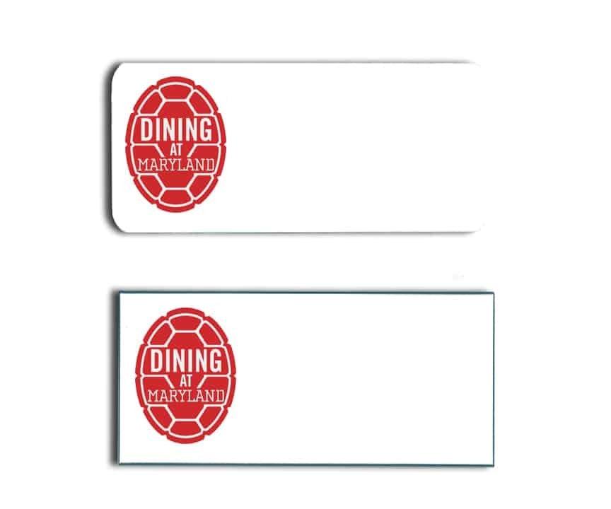 Maryland University Dining Name Tags Badges