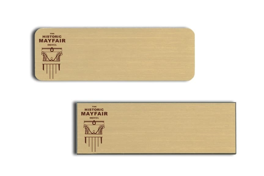 Mayfair Hotel Name Tags Badges
