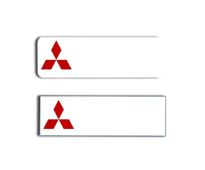 Mitsubishi Name Tags Badges