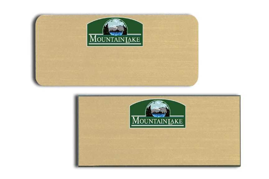 Mountain Lake Name Tags Badges