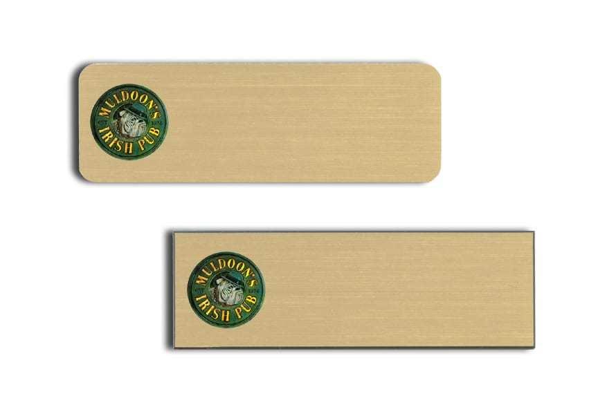 Muldoon's Irish Pub Name Tags Badges