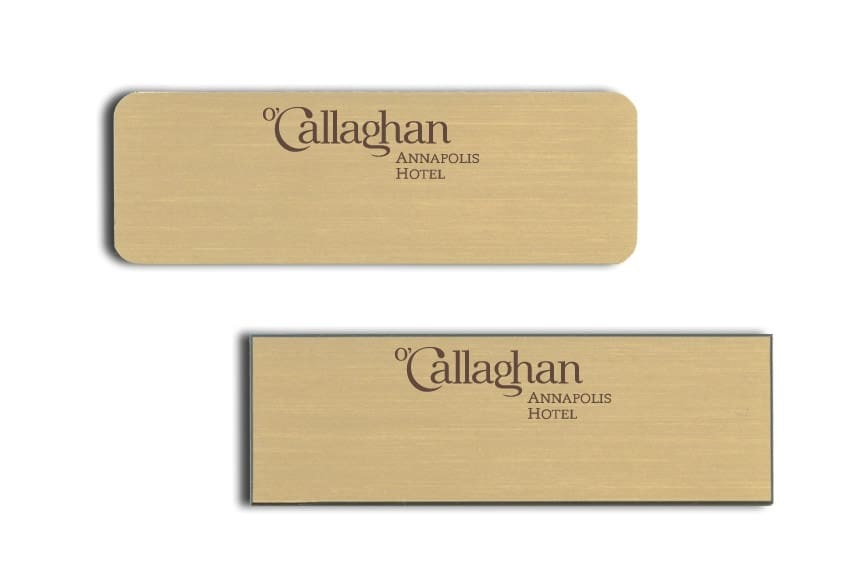 O'Callaghan Hotel Name Tags Badges