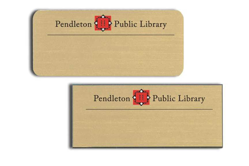Pendelton Public Library Name Tags Badges