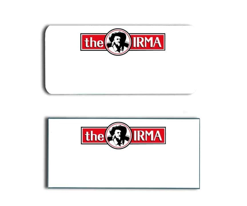 The Irma Name Tags Badges
