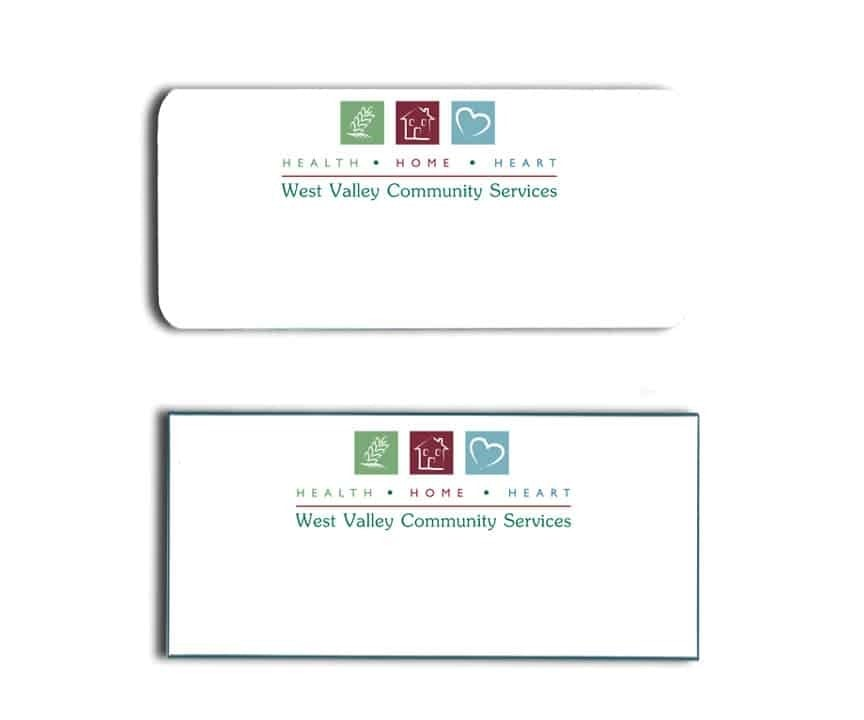 West Valley Community Services Name Tags Badges