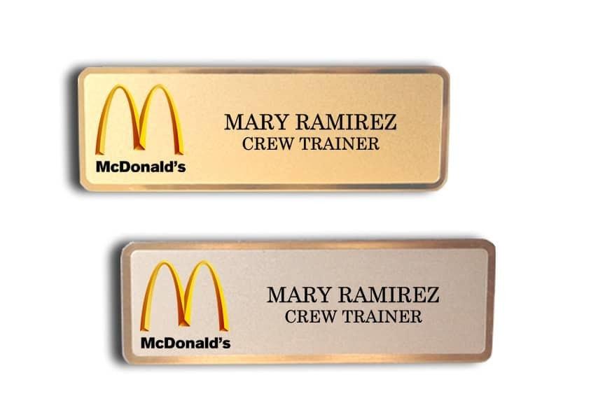 McDonald's Special Name Badges | Quick Badge & Sign Inc