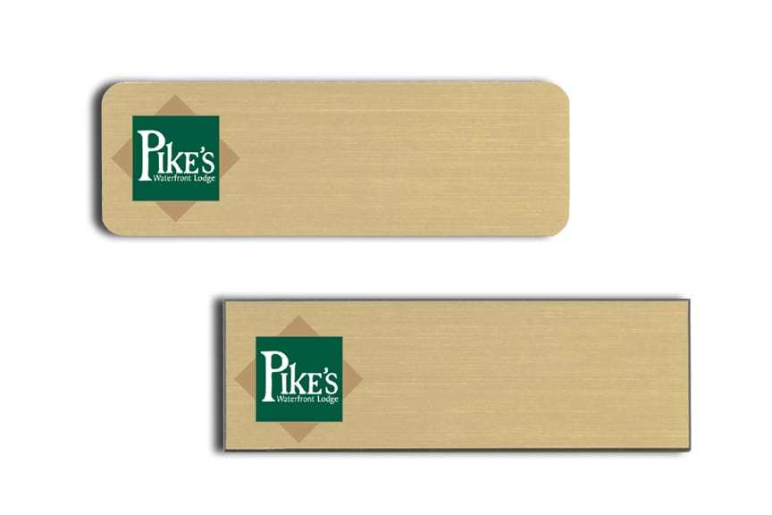 Pikes Waterfront Lodge Name Badges Tags