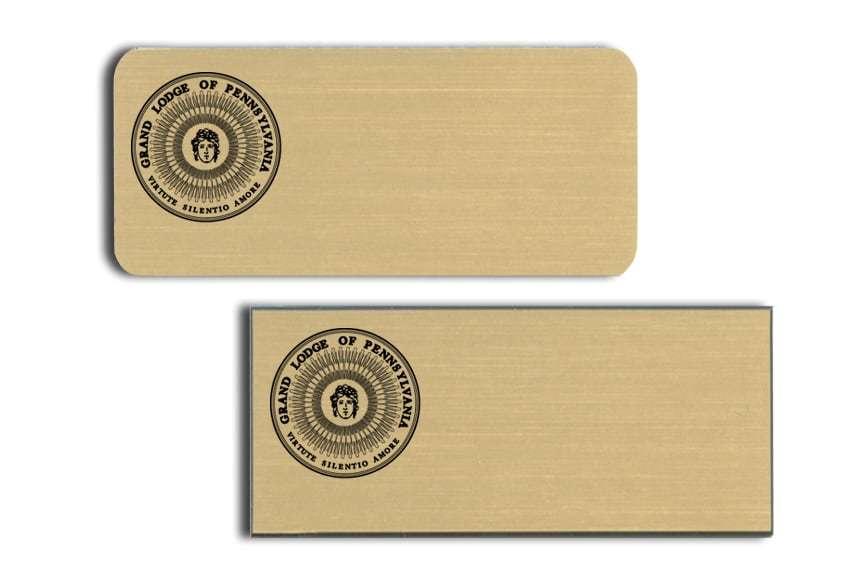 Grand Lodge of Pennsylvania Name Tags