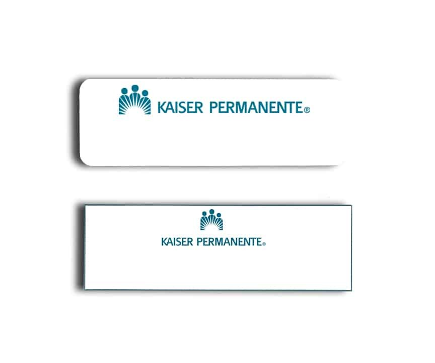 Kaiser name badges tags