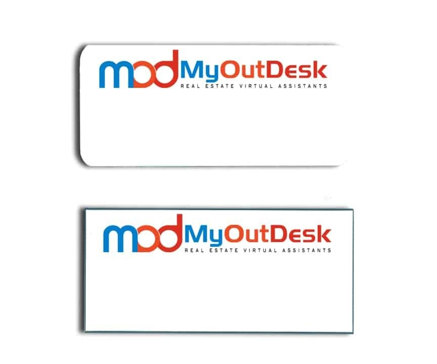 My Out Desk name badges tags