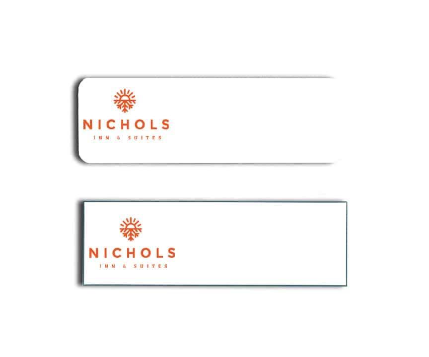 Nichols Inn & Suites name tags badges