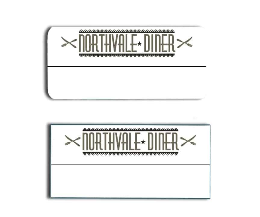 Northvale Diner name tags badges