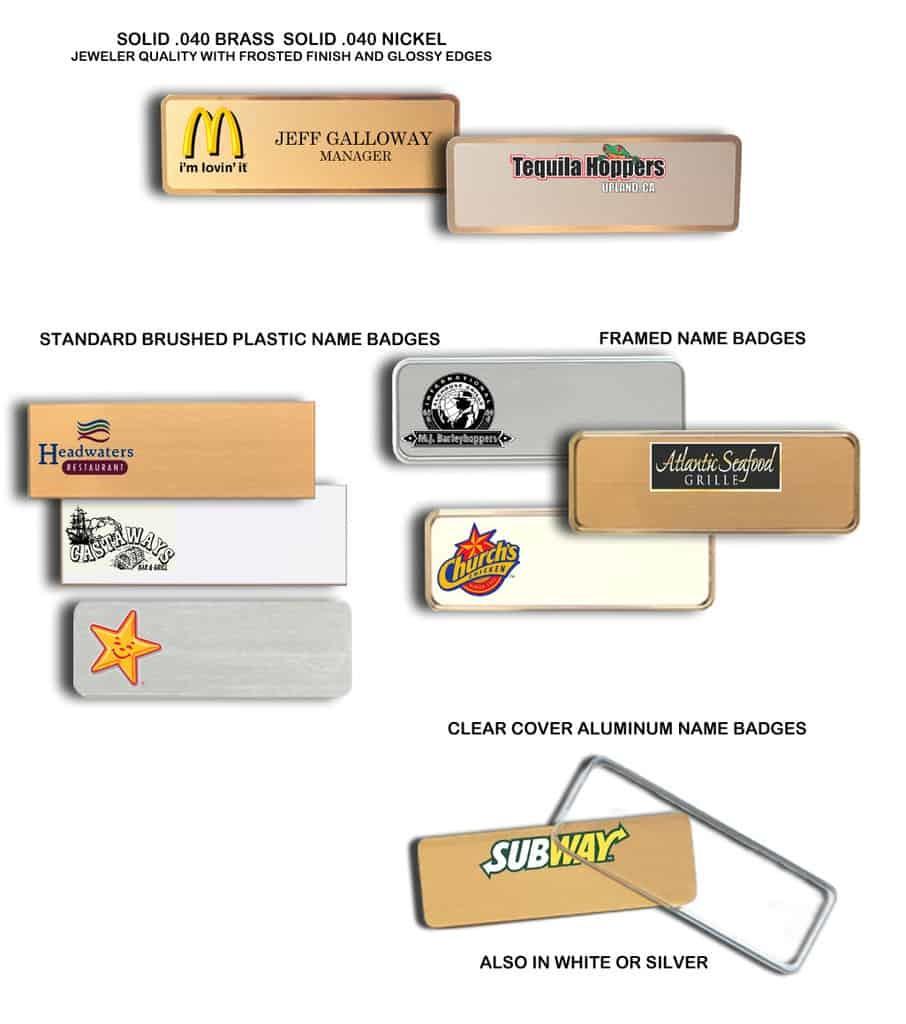 Restaurant Name Badges
