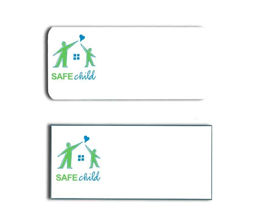 SAFE Child name badges tags