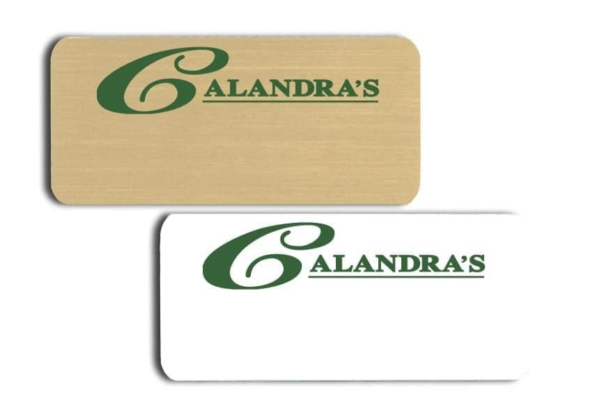 Calandra's name badges