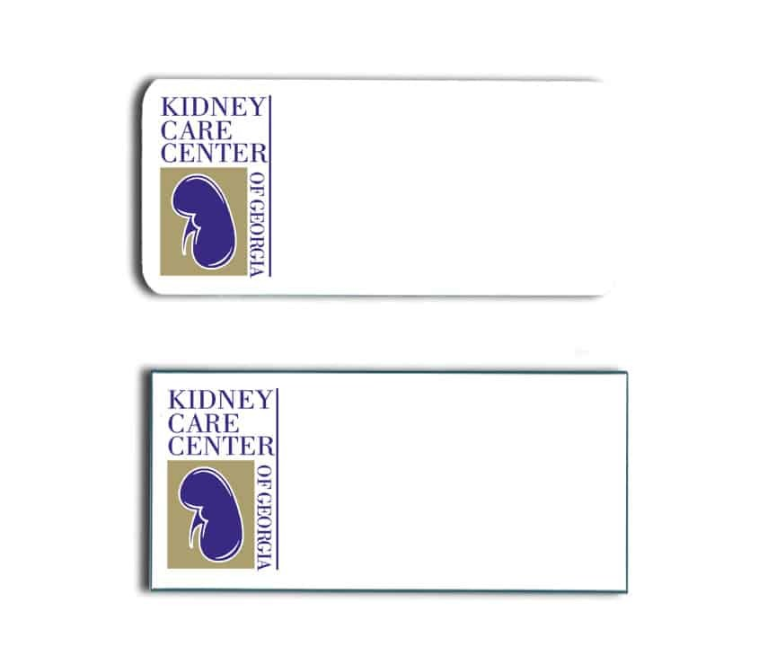 Kidney Care Center name badges