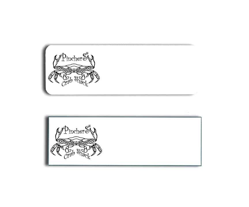 Pinchers Crab Shack name badges