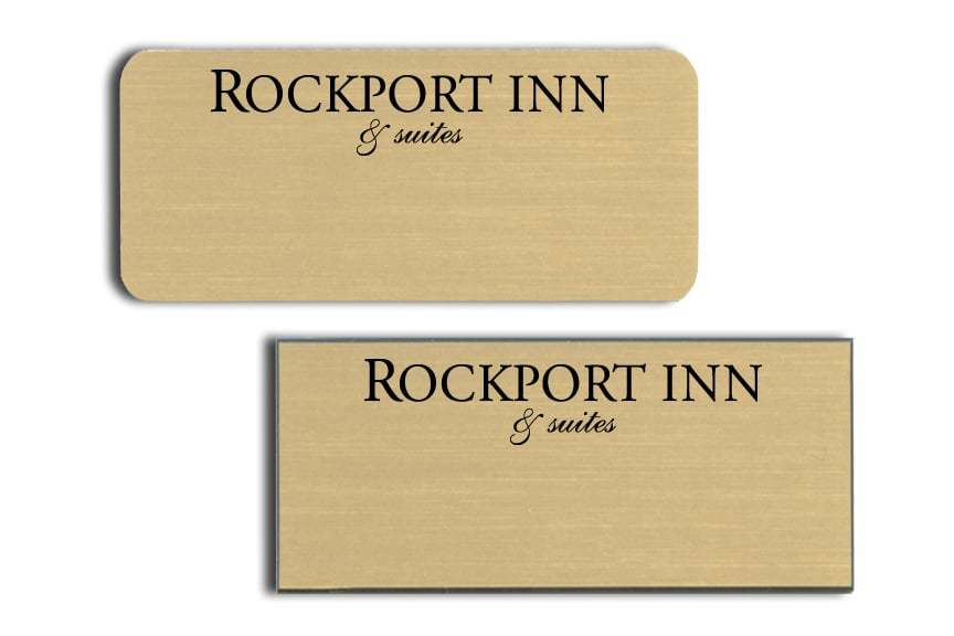 Rockport Inn and Suites name badges