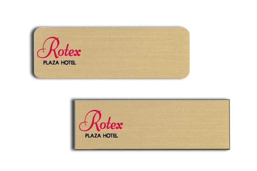 Rotex Plaza Hotel name badges