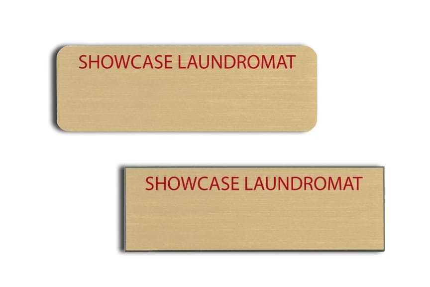 Showcase Laundromat name badges