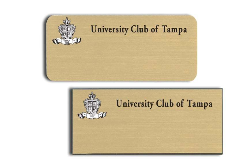 University Club of Tampa name badges
