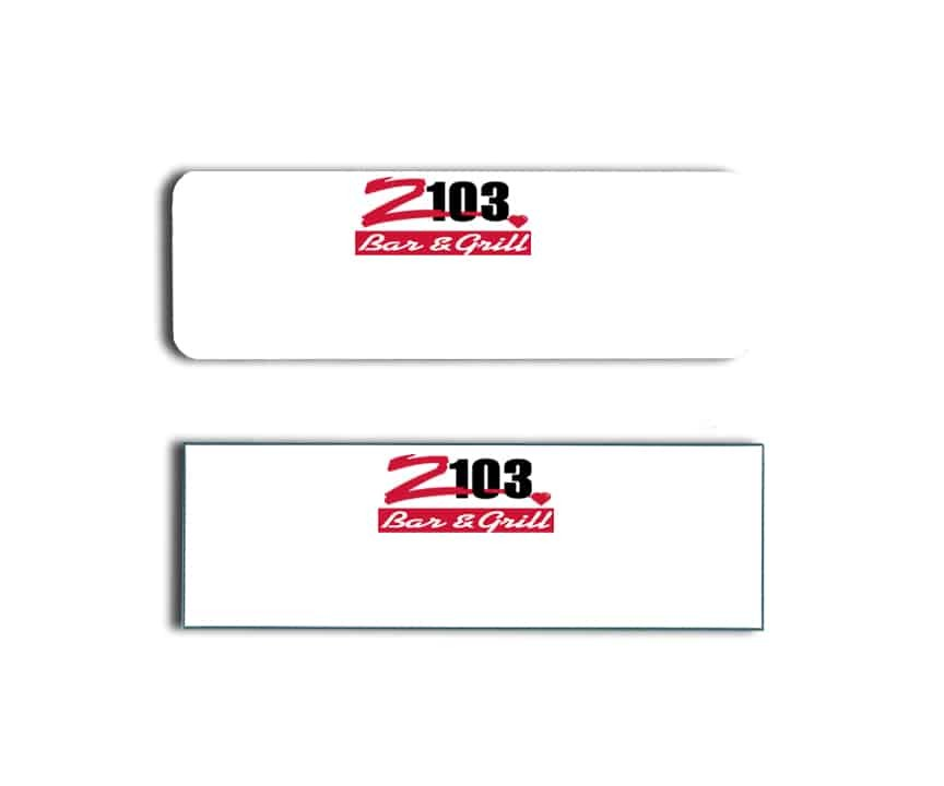 Z103 name badges