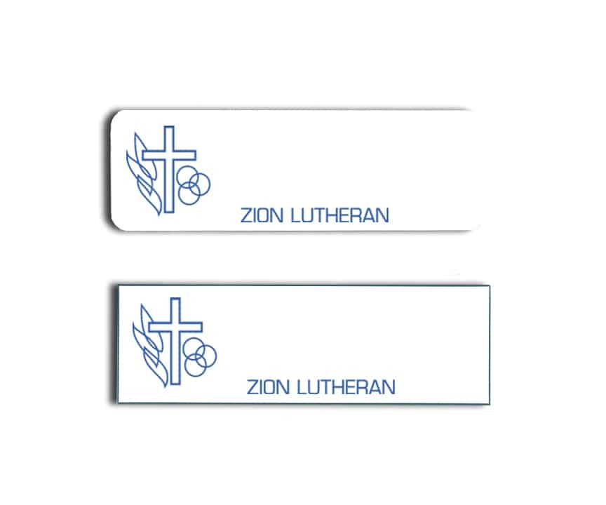 Zion Lutheran name badges