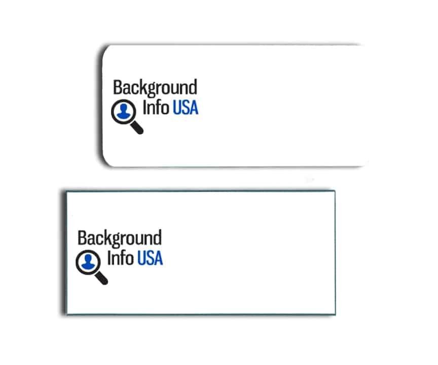 Background Info USA name badges