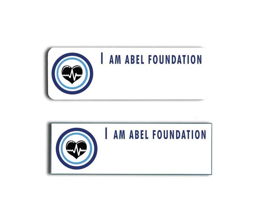 I Am Abel Foundation Name Badges