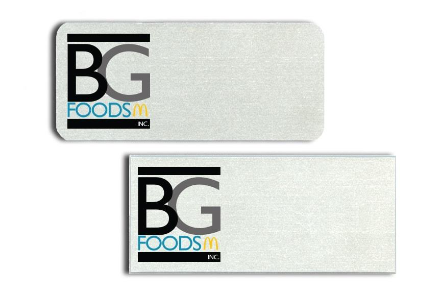 BG Foods Name Badges
