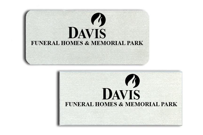 Davis Funeral Homes Name Badges