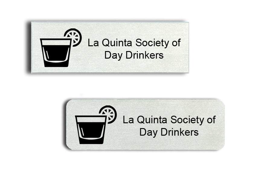 Day Drinkers Society Name Badges