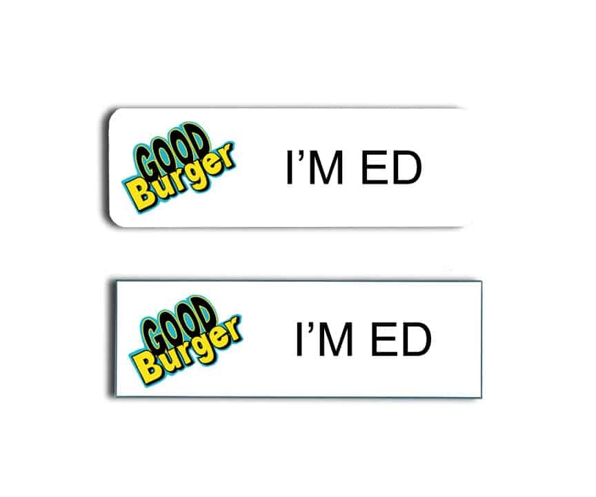 Good Burger Name Badges