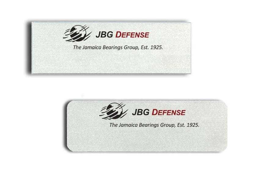 JBG Defense Name Badges