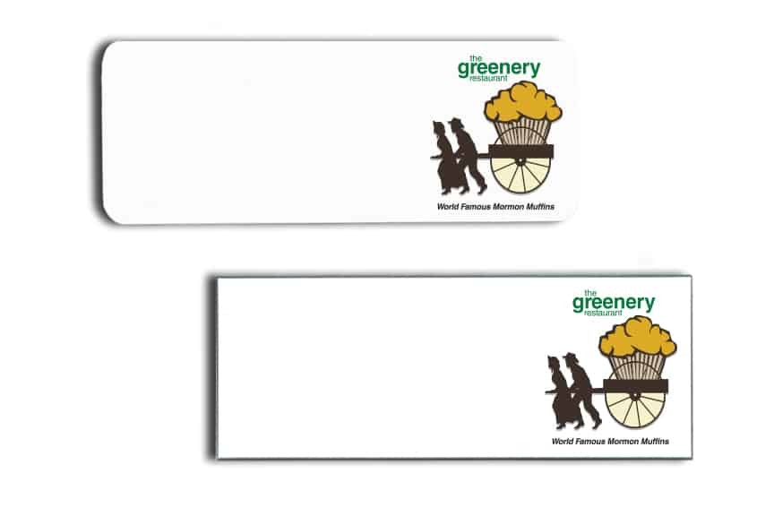 The Greenery Name Badges