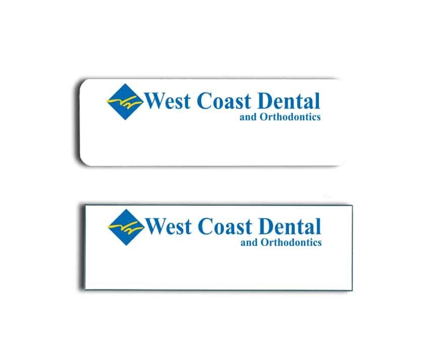 West Coast Dental Name Badges