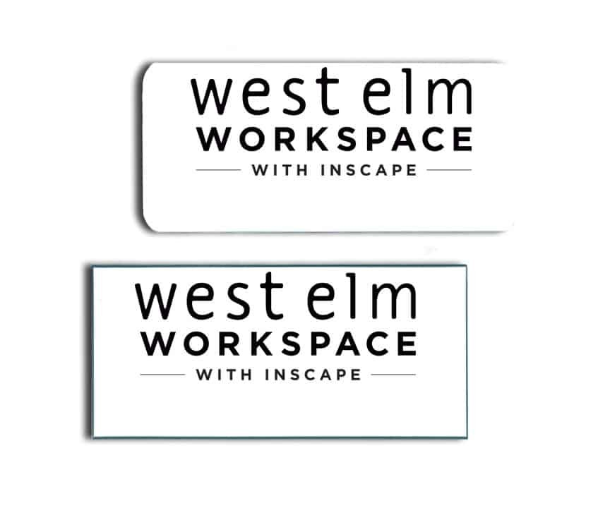 West Elm Workspace Name Badges