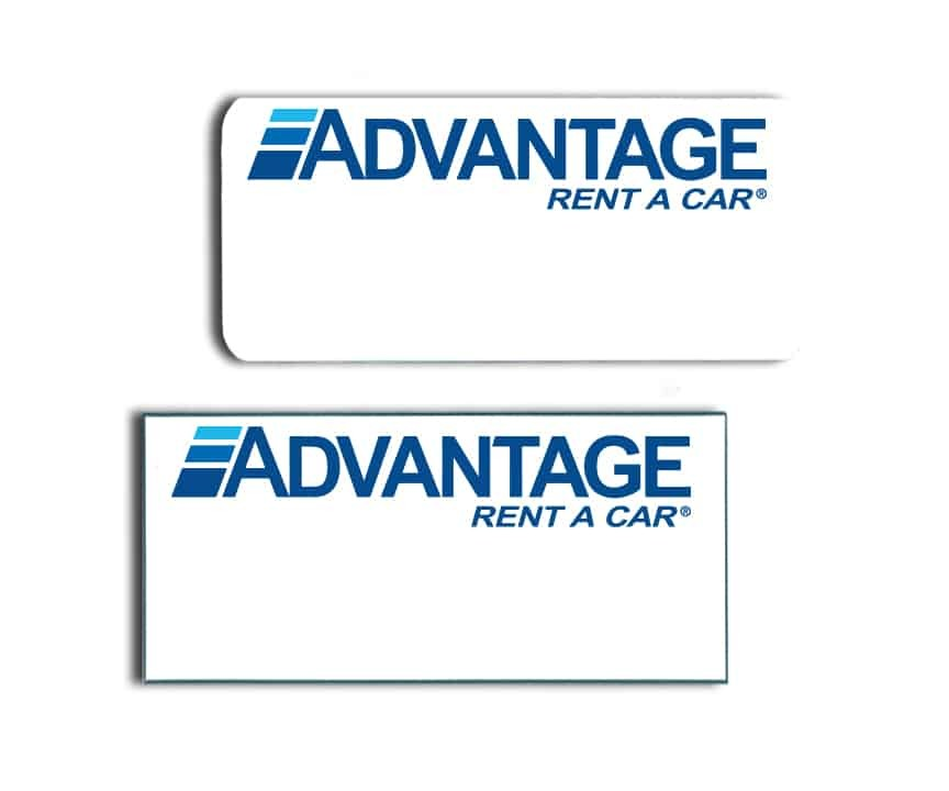 Advantage Rent a Car Name Badges