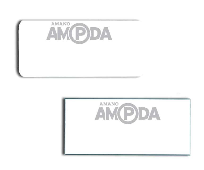 Amano AMPDA name badges