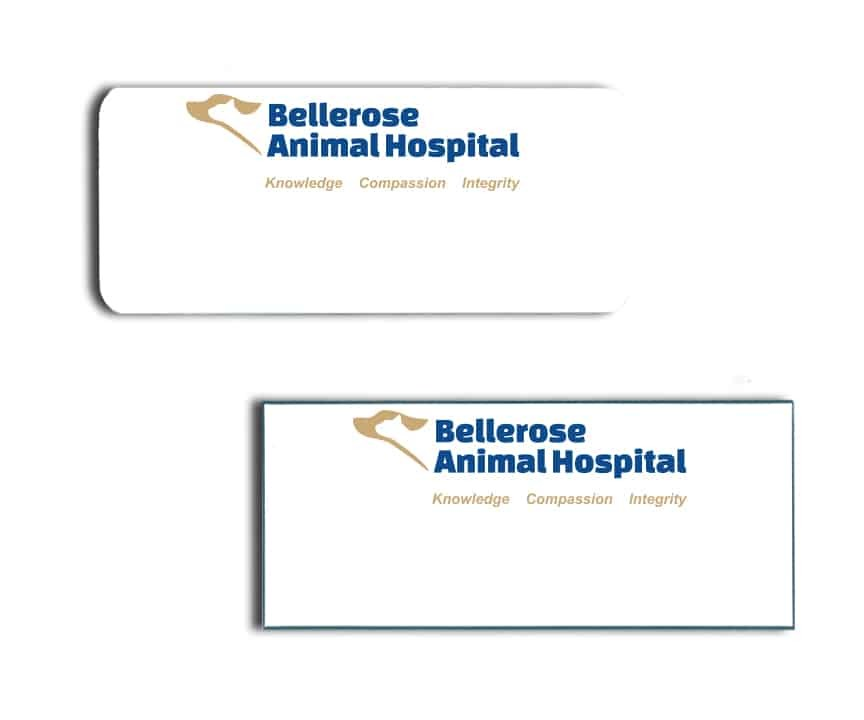 Bellerose Animal Hospital Name Badges