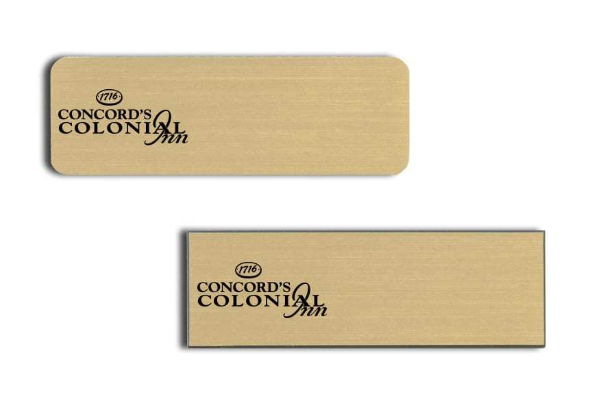 Concords Colonial name badges