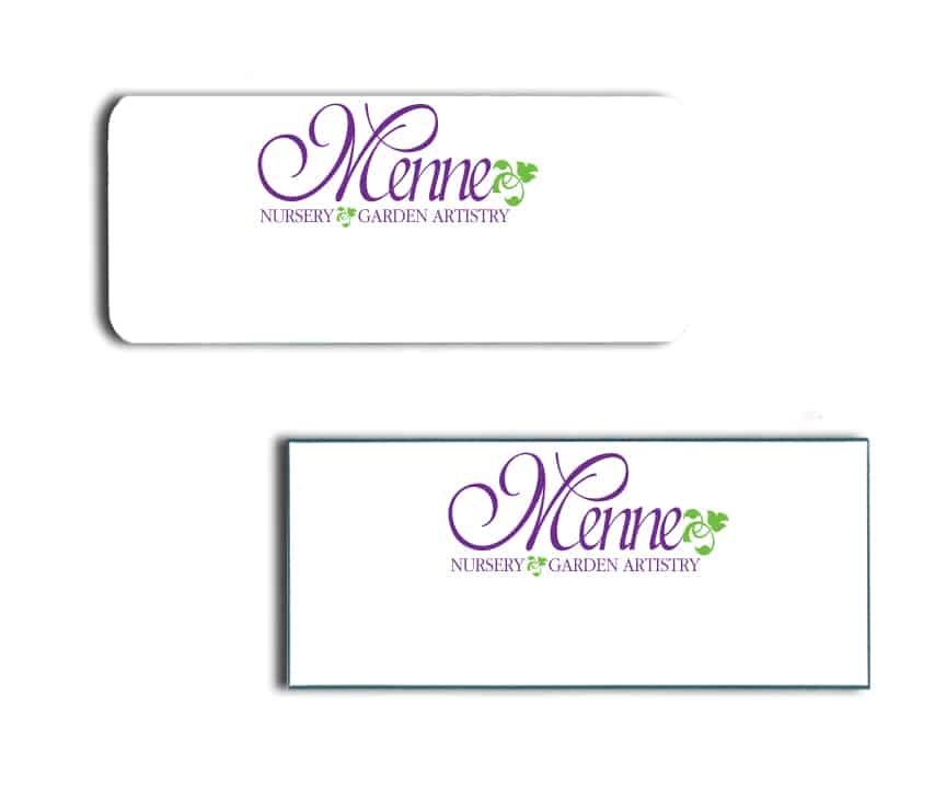 Menne Nursery Name Badges