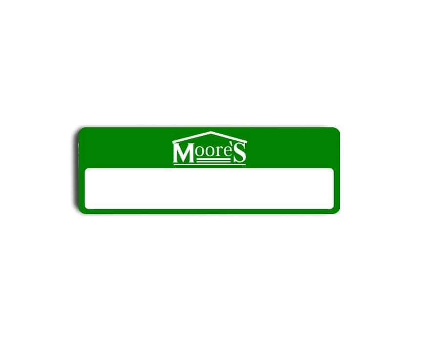 Moores name badges