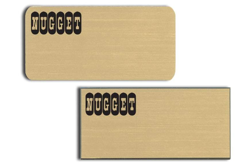 Nugget Casino name badges