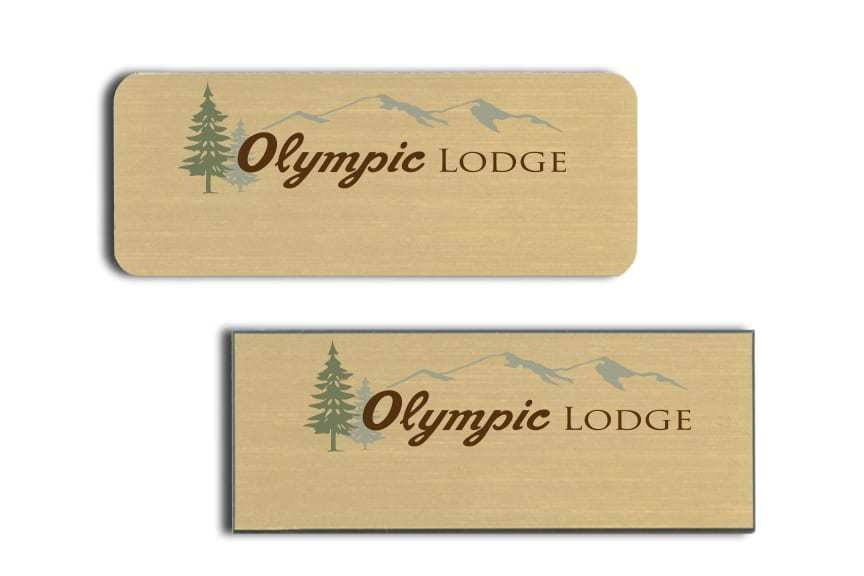 Olympic Lodge name badges