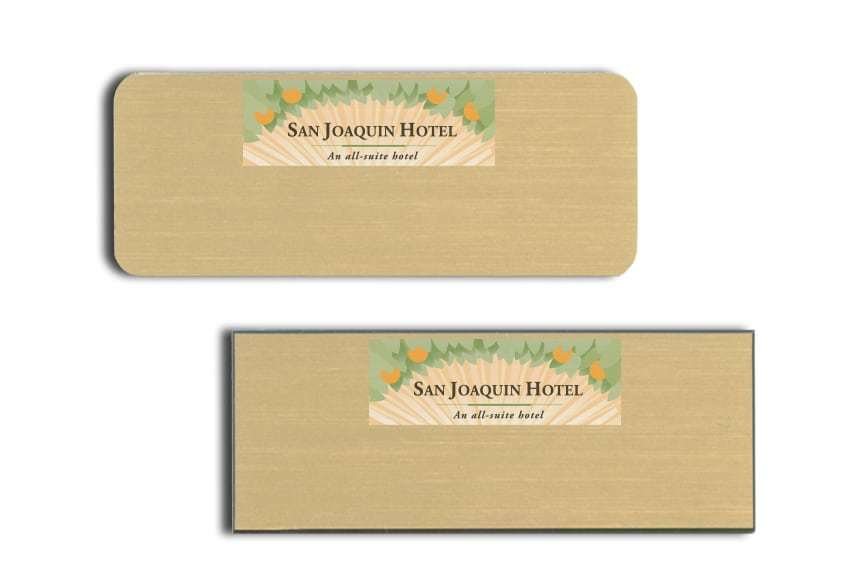 San Joaquin Hotel Name Badges
